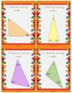 Thanksgiving Interior and Exterior Angles of a Triangle Task Cards