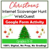 Christmas Interactive Internet Scavenger Hunt WebQuest Goo