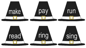 Thanksgiving Irregular Verb Flashcards - Speech Therapy