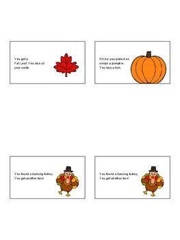 Thanksgiving Irregular Verb Game and Sort