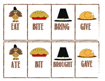 Thanksgiving Irregular Verbs