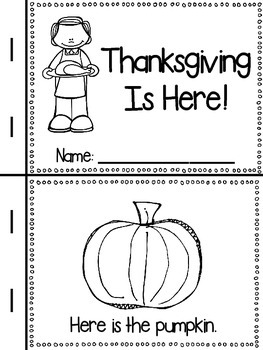 Thanksgiving Is Here! (a little reader)