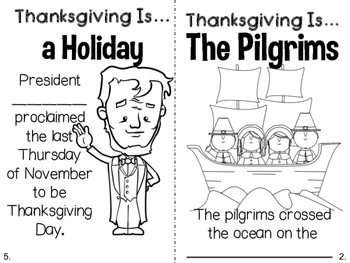 Thanksgiving Is... Literacy and Math Extensions