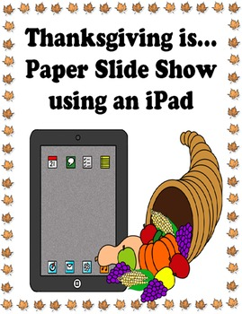 Thanksgiving Is... activity based on book by Gail Gibbons