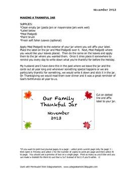 Thanksgiving Jar Project