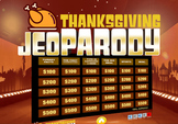 Thanksgiving Jeopardy Trivia Powerpoint Game - Mac and PC
