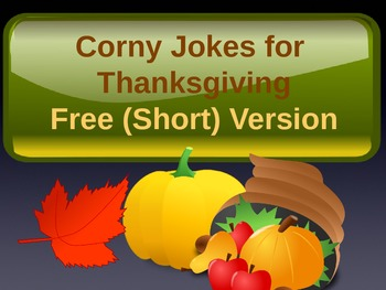 Thanksgiving Jokes For Kids - PowerPoint