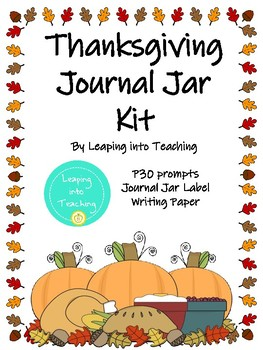 Thanksgiving Journal Jar Kit