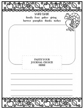 Thanksgiving Journal Prompt