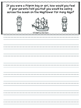 Thanksgiving Journal Prompts Grades K-6