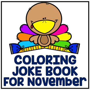 "November Thanksgiving ""Just For Fun"" Coloring Joke Book Printables"