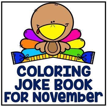 "November Thanksgiving ""Just For Fun"" Coloring Joke Book Pr"