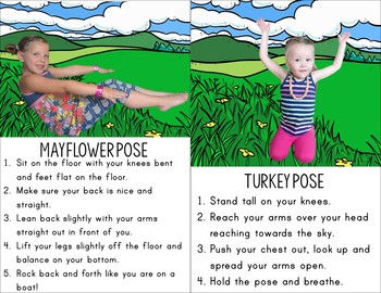 thanksgiving kids yoga cards and printables  tpt