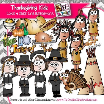 Thanksgiving Kid Clip Art