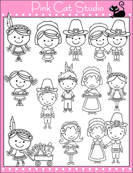 Thanksgiving Clip Art - Personal & Commercial Use