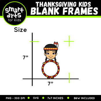 Thanksgiving Kids Holding Blank Signs Clip Art