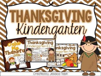 Thanksgiving Activities- Kindergarten Bundle