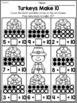 Thanksgiving  Kindergarten Language Arts and Math Worksheets Bundle