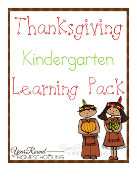 Thanksgiving Kindergarten Learning Pack