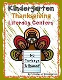 Thanksgiving Kindergarten Literacy Centers {Common Core Aligned}