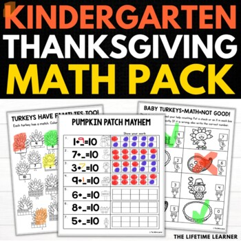Thanksgiving Kindergarten Math Puzzles