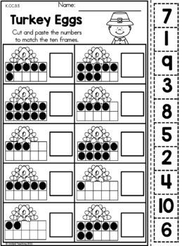 Thanksgiving Kindergarten Math Worksheets
