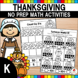 Thanksgiving Math Activities (Kindergarten)