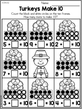 Thanksgiving Math Activities (Kindergarten) by United ...