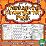 Thanksgiving Kindergarten Pack, No Prep, CCSS Aligned