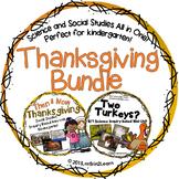 Thanksgiving Kindergarten Social Studies Science BUNDLE