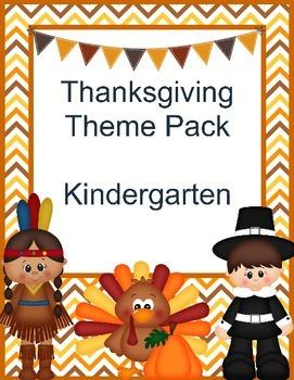 Thanksgiving Kindergarten Theme Pack