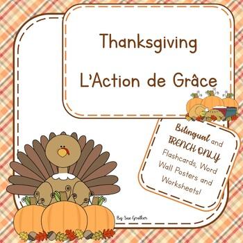 Thanksgiving - L'Action de Grâce (Bilingual English & Spanish)