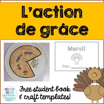 Thanksgiving - L'Action de grace mini book