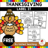 Thanksgiving Label It Freebie