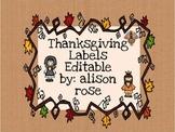 Thanksgiving Labels editable
