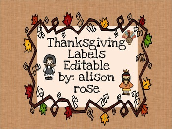 Thanksgiving Labels editable