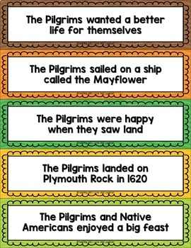 Thanksgiving Language Activities {First and Second Grade Edition}