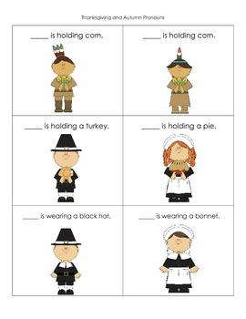 Thanksgiving Language Activities for Preschool/Kindergarten
