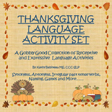 Thanksgiving Language Activity Kit