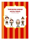 Thanksgiving Language Activity Packet: Common Core Aligned