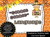 Thanksgiving Language Activity for Speech Therapy
