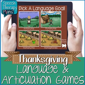 No Print Thanksgiving Language & Articulation Activities