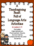 Thanksgiving Language Arts Activities