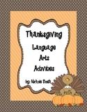 Thanksgiving Language Arts Activities Pack