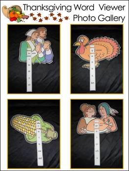Thanksgiving Language Arts Activities: Thanksgiving Word Viewers Activity Packet