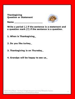 Thanksgiving Language Arts Bundle
