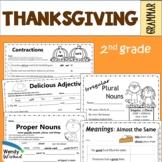 Thanksgiving Grammar Worksheets with Digital Option