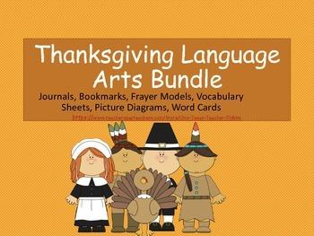 Thanksgiving Language Arts Loaded Bundle