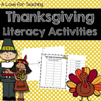 Thanksgiving Language Arts Mini Unit