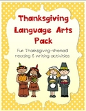 Thanksgiving Language Arts Pack